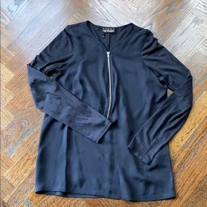 EUC Kooples Sport Long Sleeve Navy Top Size Small
